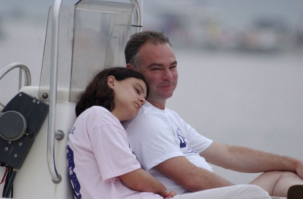 Annella Kaine with her dad Tim Kaine