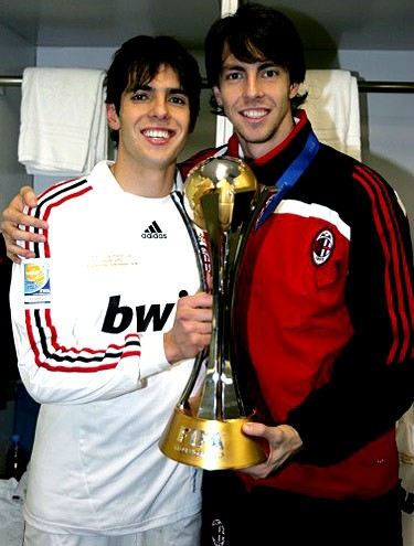 Kaka with his brother Digao