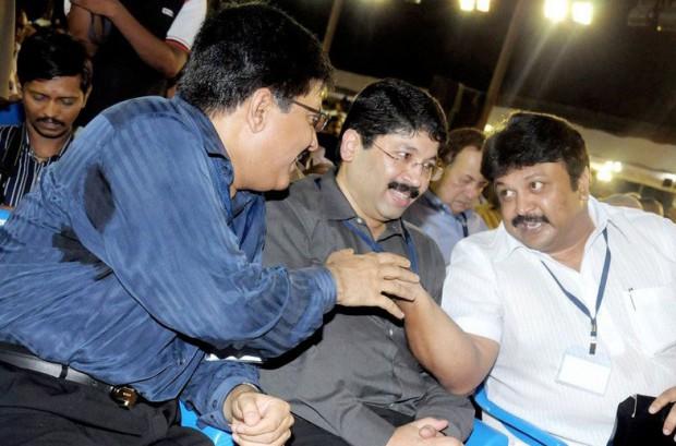Maran brothers with actor Prabhu Ganesan