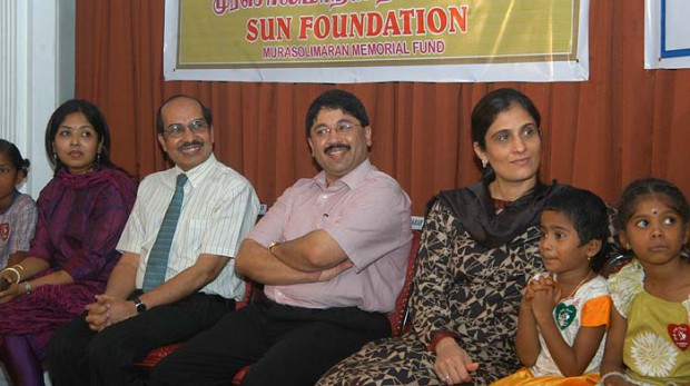 Kalanithi Maran and his wife Kaveri during a charity event