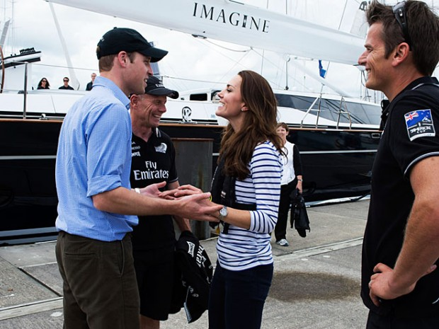 Kate and Prince Williams during yacht race