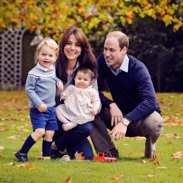 Kate and William with their kids