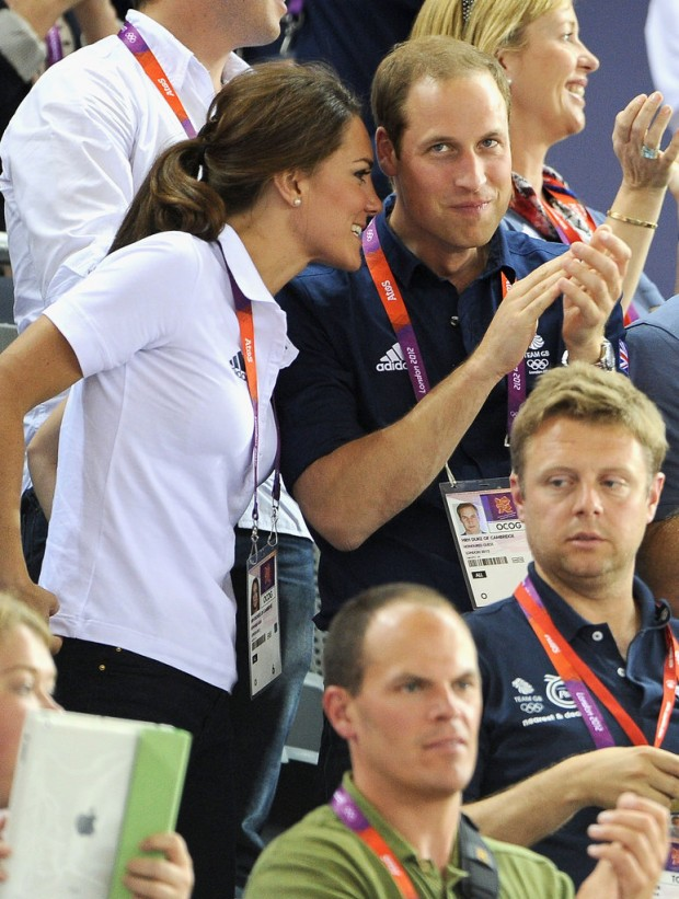 Kate and Prince Williams during Olympics