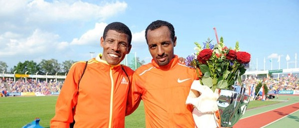 Kenenisa brother with Gebrselassie