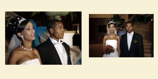 Wedding moments of Kenenisa Bekele and Danawit Gebregziabher
