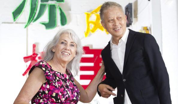 Judith Neilson with furniture designer Khai Liew