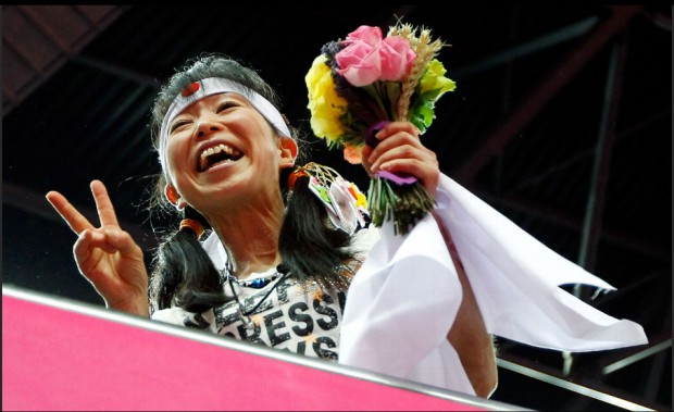 Kohei Uchimura mom at London Olympics