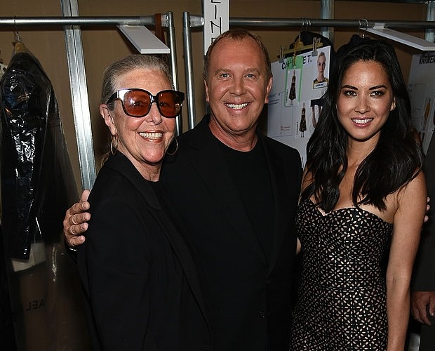 Michael Kors with His Mom at Spring 2015 Fashion Show