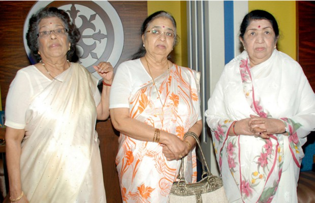 Lata Mangeshkar and her sisters Usha and Meena
