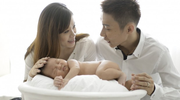 Lee Chong Couple with their New Born Baby