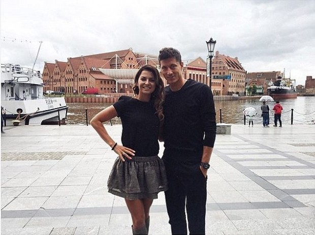 Robert Lewandoski with his wife enjoying their Gdans trip