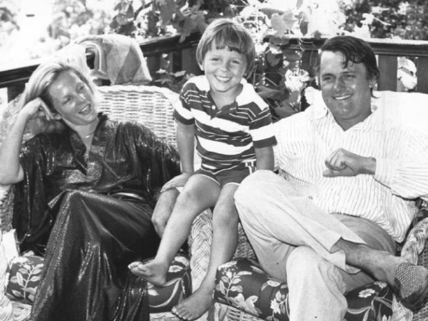 Malcom with his wife Lucy and son Alexander Turnbull