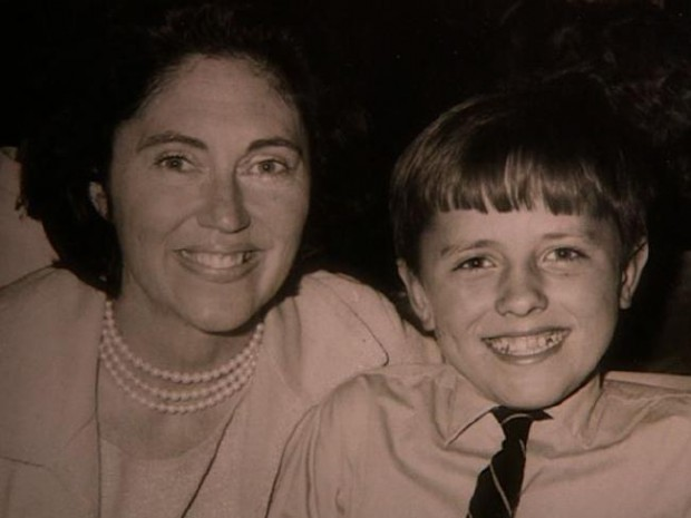 Young Malcolm Turnbull with his mother, Coral