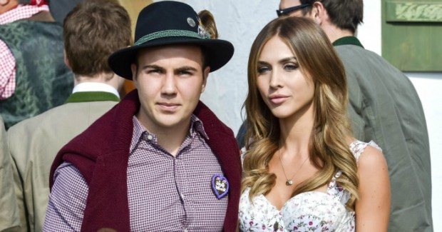 Mario with his girl friend Ann-Kathrin Brommel