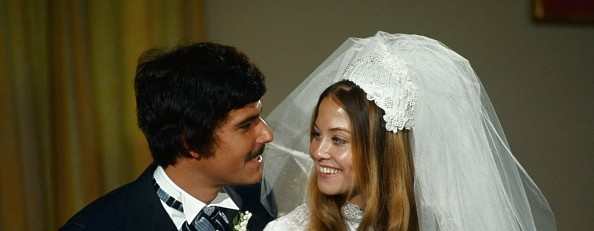 Mark Spitz and his wife on their wedding day