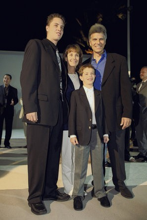 Mark Spitz with his wife and sons