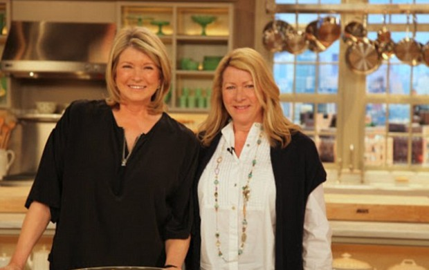 Martha and her sister Laura on her show