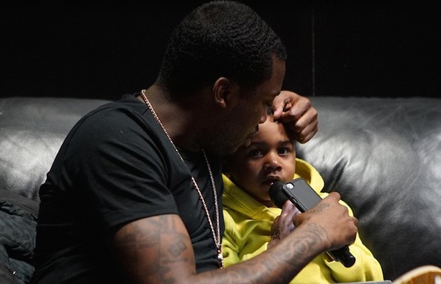 Meek with his Son