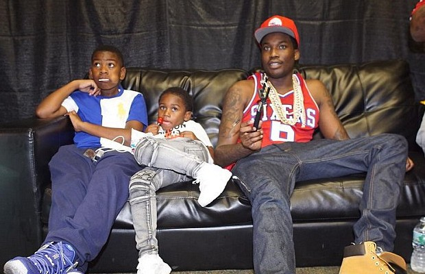 Meek with his sons Rihmeek and Murad