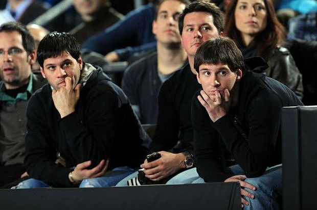Lionel with his brother Matias Messi
