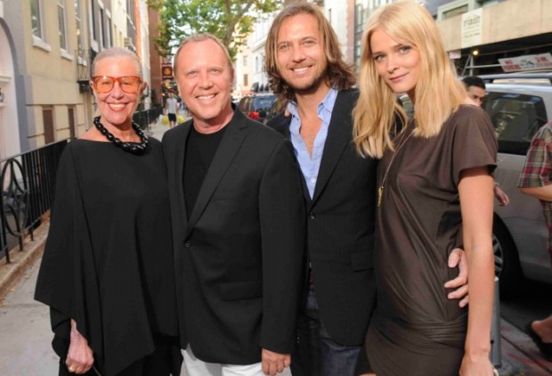 Michael Kors with His Mother Joan Hamburger and Carmen Kass