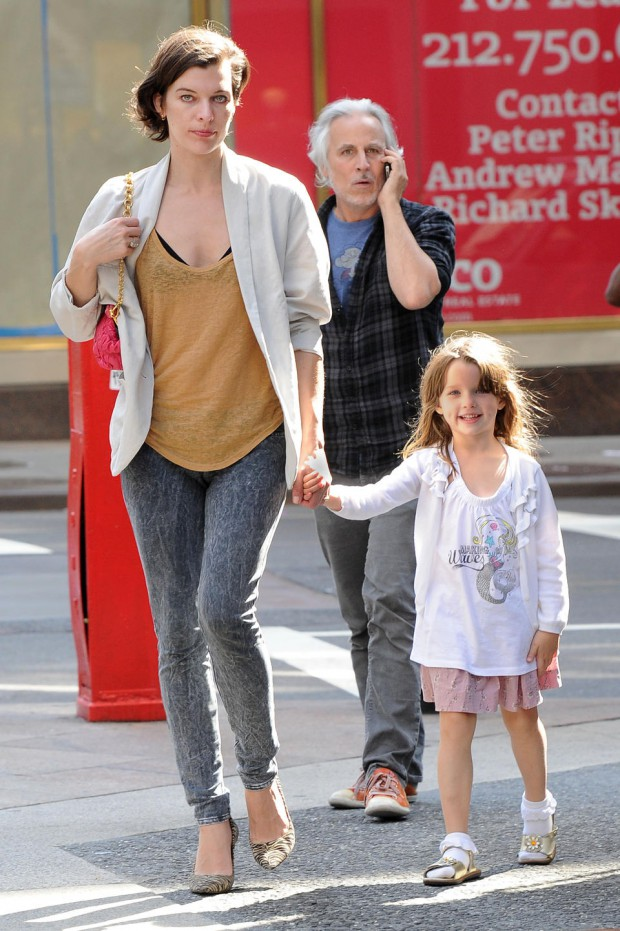 Milla Jovovich and her daughter Ever Gabo Anderson