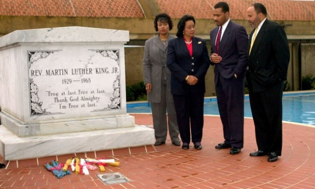 MLK Sons Dexter and MLK III and daughters Yolanda and Bernice King