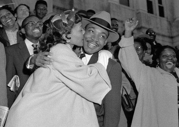 MLK with his wife Coretta Scott King