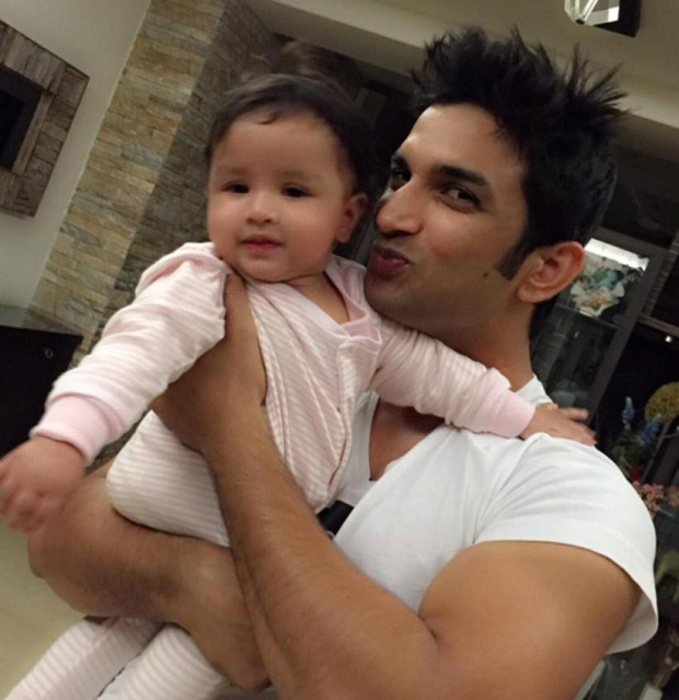 Actor Sushanth Singh Rajput with Dhoni daughter Ziva