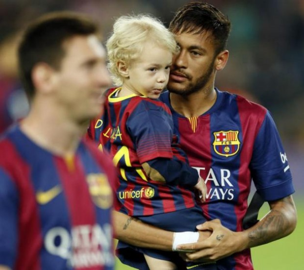 Dav Lucca with his dad Neymar