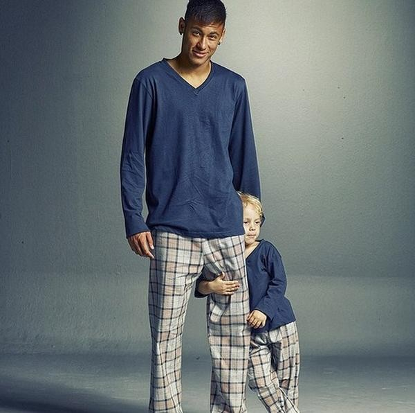 Neymar with his junior