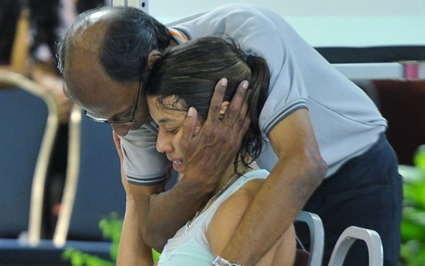 Nicol David and her father Desmond