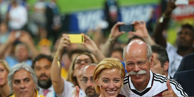 Nora Zetsche with Her Father Dieter Zetsche