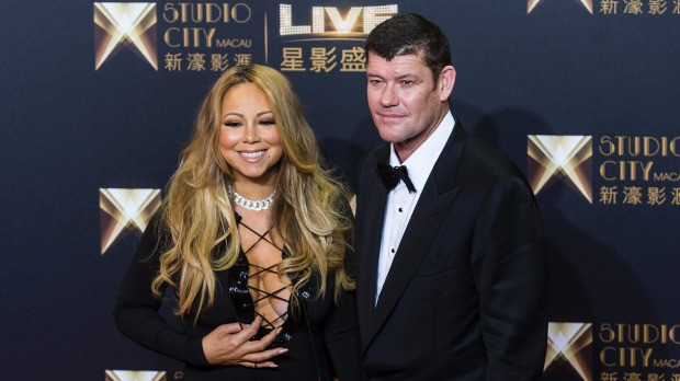 James Packer with his partner Mariah Carey