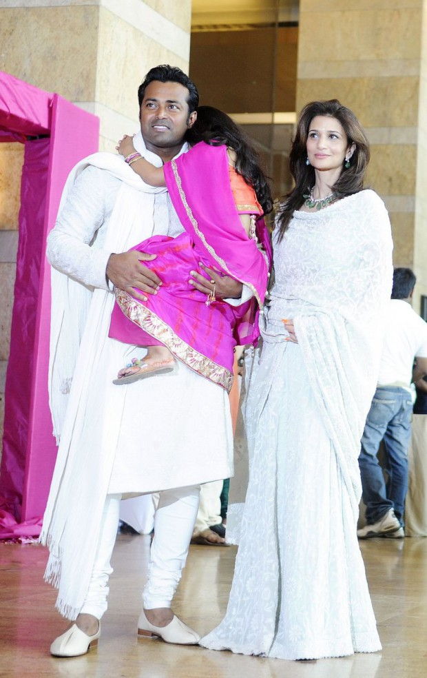 Paes and Rhea Pillai with their daughter