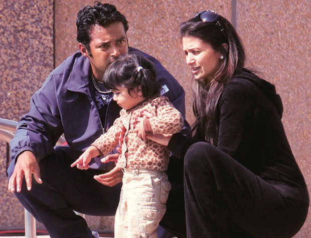 Paes and his family