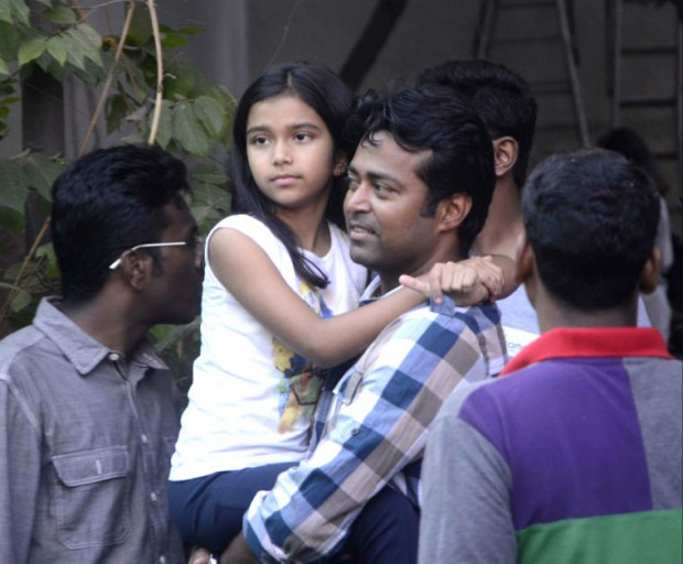 Leander Paes and his daughter Aiyana Paes