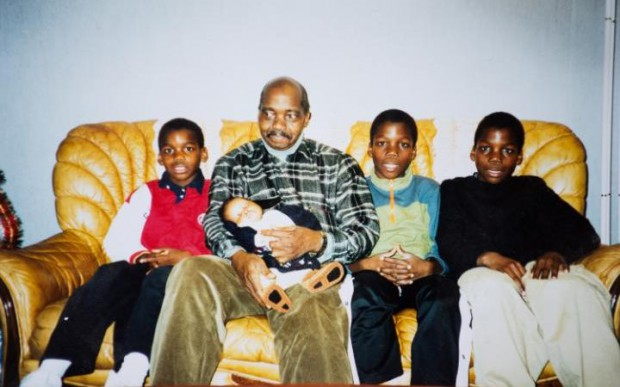 Paul Pogba and his brothers with their father Fassou Antoine Pogba