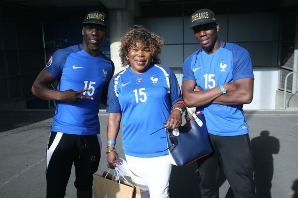Paul Pogba's mother Yeo with her elder son Mathias and Forentine