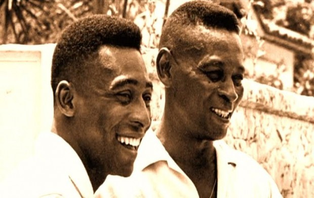 Pele with his father Dondinho