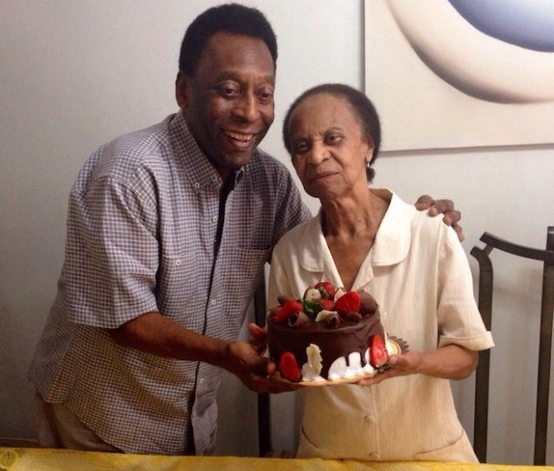 Pele with his mother Celeste Arantes
