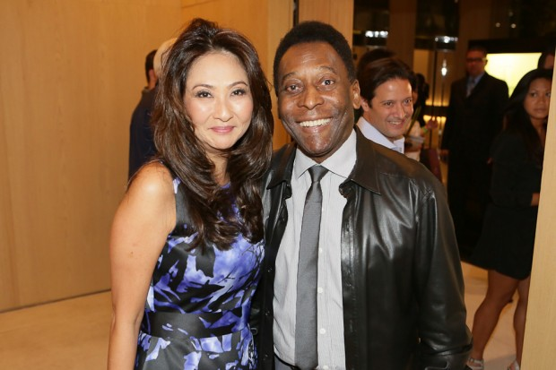 Pele and his wife
