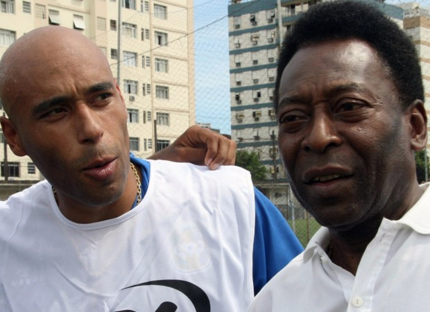 Edinho with his father Pele