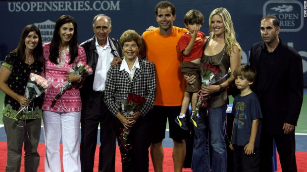 Pete Sampras with his family