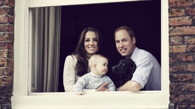 William and Kate with their son George