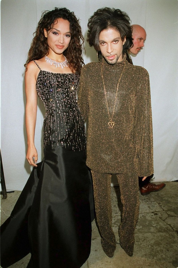 Prince with His Ex-Wife Mayte