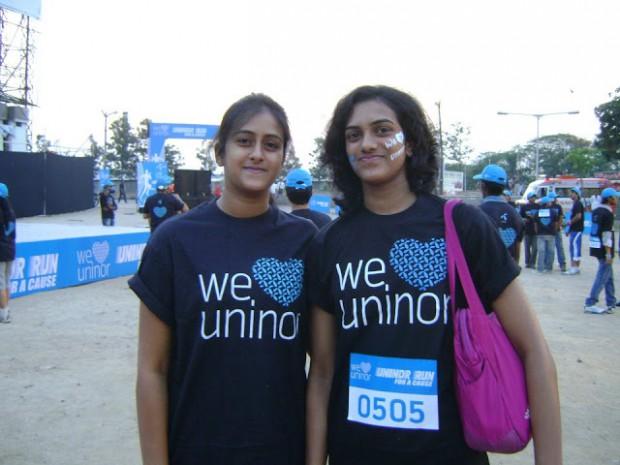 PV Sindhu and her elder sister Divya