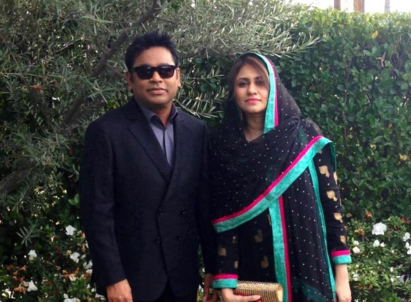 Oscar Winner AR Rahman with his wife