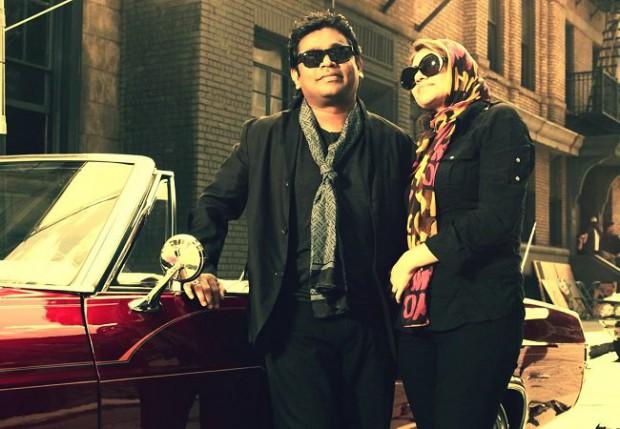 AR Rahman and his wife Saira Banu