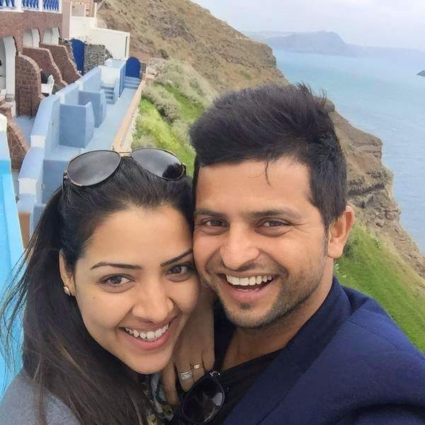 Raina with his wife Priyanka Chaudary